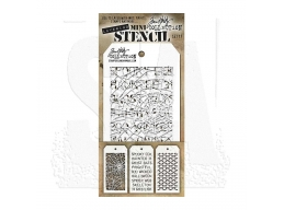 Stampers Anonymous, Tim Holtz , Mini Stencil Set 17