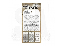 Stampers Anonymous, Tim Holtz , Mini Stencil Set 18