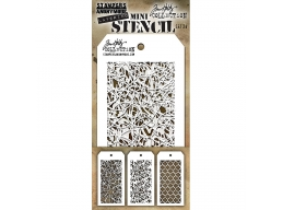 Stampers Anonymous, Tim Holtz , Mini Stencil Set 24