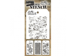 Stampers Anonymous, Tim Holtz , Mini Stencil Set 25