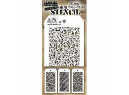 Stampers Anonymous, Tim Holtz , Mini Stencil Set 26 - PRE-ORDER