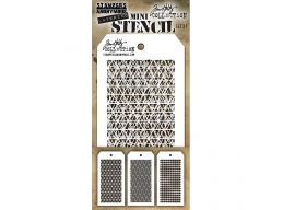 Stampers Anonymous, Tim Holtz , Mini Stencil Set 27 - PRE-ORDER