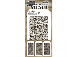 Stampers Anonymous, Tim Holtz , Mini Stencil Set 28 - PRE-ORDER