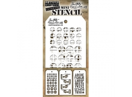 Stampers Anonymous, Tim Holtz , Mini Stencil Set 29 - PRE-ORDER