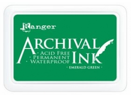 Ranger Archival Ink Pad - Emerald Green - Jumbo Size