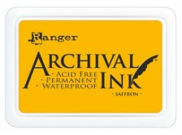 Ranger Archival Ink Pad - Saffron - 90mm x 62mm