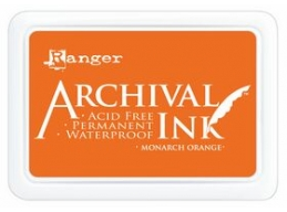 Ranger Archival Ink Pad - Monarch Orange - 90mm x 62mm