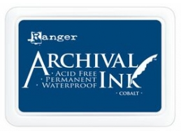 Ranger Archival Ink Pad - Cobalt - 90mm x 62mm