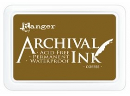 Ranger Archival Ink Pad - Coffee - 90mm x 62mm