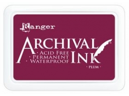 Ranger Archival Ink Pad - Plum - 90mm x 62mm