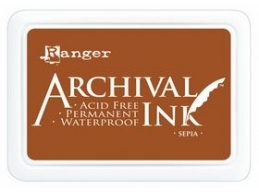 Ranger Archival Ink Pad - Sepia - 90mm x 62mm