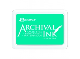Ranger Archival Ink Pad - Paradise Teal - 90mm x 62mm