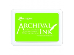 Ranger Archival Ink Pad - Vivid Chartreuse - 90mm x 62mm