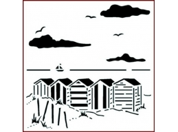 Art Stamps - Beach huts