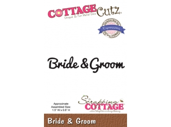 CCX-047 CottageCutz Expressions Die - Bride & Groom