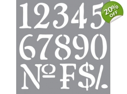 Olde World Numbers  - Americana Decor Stencils 12x12