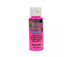 Crafters Acrylic - Pink Neon DCA128