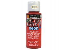Crafters Acrylic - Red Neon DCA129