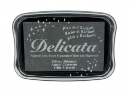 Tsukineko - Delicata Ink Pad Silvery Shimmer | Art of Stourbridge