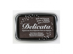 Tsukineko - Delicata Ink Pad Dark Brown Shimmer | Art of Stourbridge