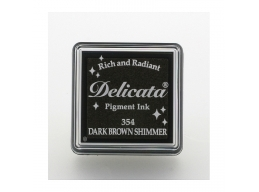 Tsukineko - Delicata Dark Brown Shimmer Small Ink Pad | Art of Stourbridge