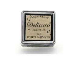 Tsukineko - Delicata White Shimmer Small Ink Pad | Art of Stourbridge