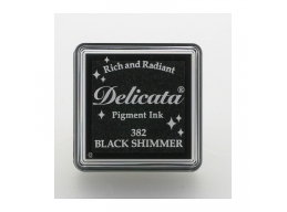 Tsukineko - Delicata Black Shimmer Small Ink Pad | Art of Stourbridge