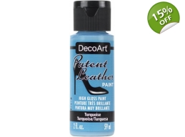 Turquoise Patent Leather 2oz | Decoart