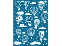 Cheery Lynn Designs Embossing Plate - Hot Air Balloons and Clouds