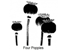 Art Stamps - Four Poppies