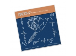 Magpie 2 Five For Silver Groovi Baby Plate A6
