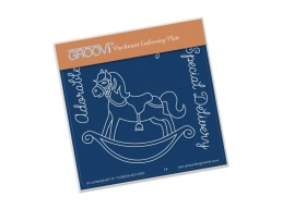 Rocking Horse Groovi Baby Plate A6