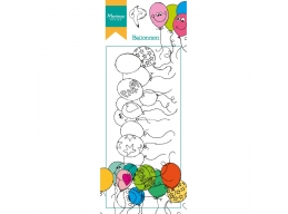 Clear Stamp Hettys Border - Balloons