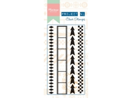 Clear Border Stamp - Arrows