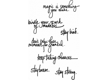 Handwritten Quotes - Dina Wakley Media by Ranger - Rubber Stamp