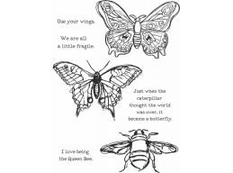 Scribbly Insects - Dina Wakley Media by Ranger - Rubber Stamp