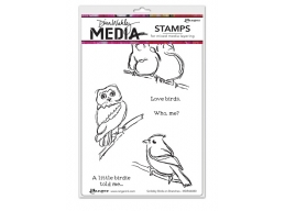Scribbly Birds on Branches - Dina Wakley Media by Ranger - Rubber Stamp