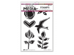 Woodcuts - Dina Wakley Media by Ranger - Rubber Stamp