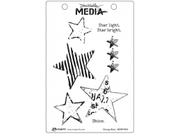 Grungy Stars - Dina Wakley Media by Ranger - Rubber Stamp