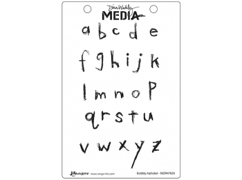 Scribbly Alphabet - Dina Wakley Media by Ranger - Rubber Stamp