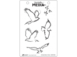 Scribbly Birds in Flight - Dina Wakley Media by Ranger - Rubber Stamp