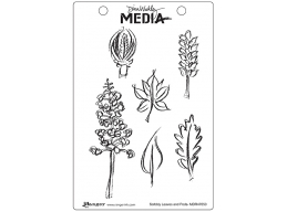 Scribbly Leaves and Pods - Dina Wakley Media by Ranger - Rubber Stamp