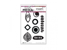 Funky Journal Shapes - Dina Wakley Media by Ranger - Rubber Stamp