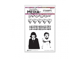 Gals And Borders - Dina Wakley Media by Ranger - Rubber Stamp