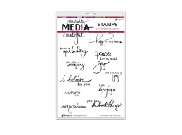 Just What To Say - Dina Wakley Media by Ranger - Rubber Stamp