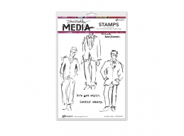 Scribbly Fellas - Dina Wakley Media by Ranger - Rubber Stamp