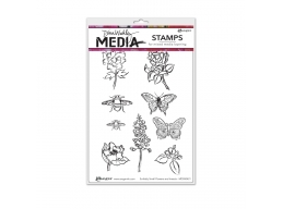 Scribbly Flowers & Insects - Dina Wakley Media by Ranger - Rubber Stamp