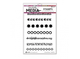 Assorted Borders - Dina Wakley Media by Ranger - Rubber Stamp