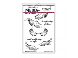 Scribbly Wings - Dina Wakley Media by Ranger - Rubber Stamp