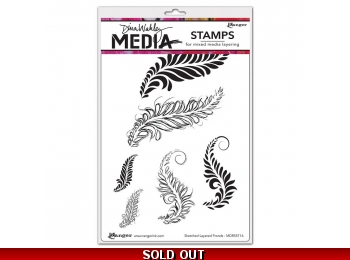 Organic Scribbles - Dina Wakley Media by Ranger - Rubber Stamp